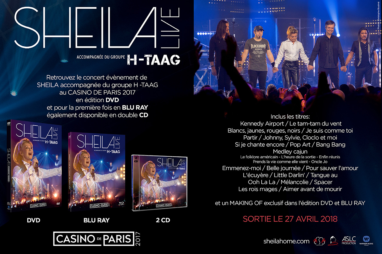 sheila casino de paris dvd bluray cd 2018
